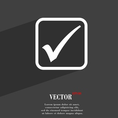 A check mark icon symbol Flat modern web design vector