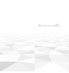 Abstract background with white geometric shapes vector image