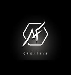 Af a f brushed letter logo design with creative vector