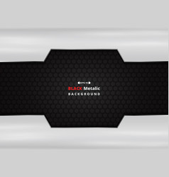Aluminum plate on black metallic background vector