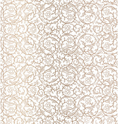 Arabesque arabic seamless floral pattern branches vector