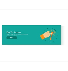 Banner key to success vector