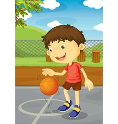 Basketball boy vector