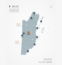 belize infographic map vector image