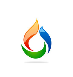 Bio gas abstract logo vector