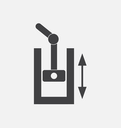 Black icon on white background pressure in engine vector