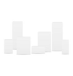 Blank rectangular boxes vector