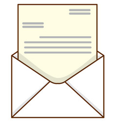 Business letter in white envelope vector