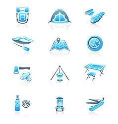 Camping icons - MARINE series vector