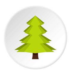 Canadian fir icon circle vector