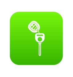 car key with remote control icon digital green vector image