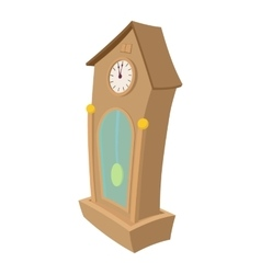 Clock cartoon icon vector