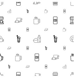 Coffee icons pattern seamless white background vector