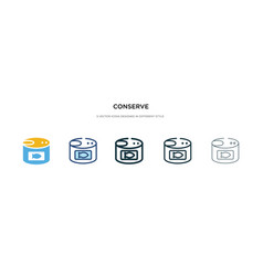 conserve icon in different style two colored vector image