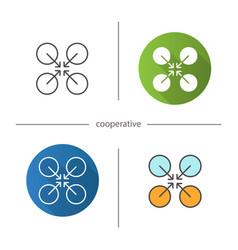 cooperative symbol icon vector image