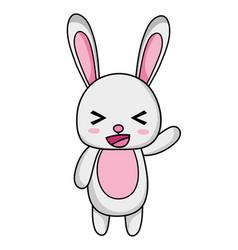 Cute and cheerful rabbit wild animal vector