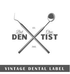 Dental label vector