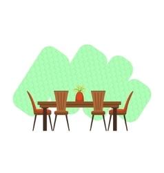 Dining Room Interior Design vector image