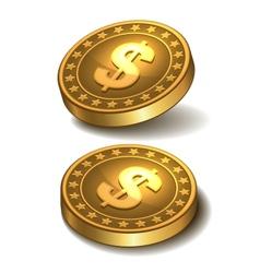 Dollars money coin vector