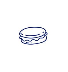 Doodle macaron icon vector