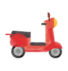 Drawing scooter transport vehicle image vector