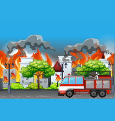 fire in at the town apartment vector image