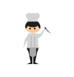 Flat web icon on white background Man cook vector