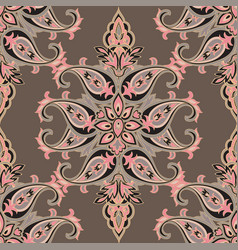 flourish orient pattern floral seamless background vector image vector image