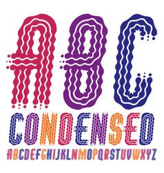 Funky capital english alphabet letters abc vector