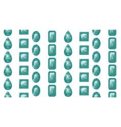 green gemstones set vector image