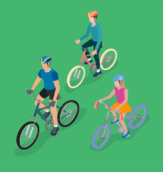 group of bicyclists vector image