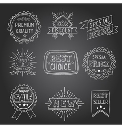 Hand drawn style badges and elements best choice vector image