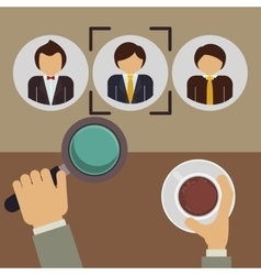 hired for the job design vector image