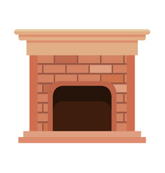House chimney inside icon vector