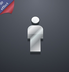 Human man person male toilet icon symbol 3d style vector