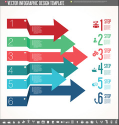 infographic design template colorful design 6 vector image vector image