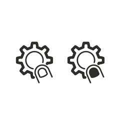 Interact icon vector
