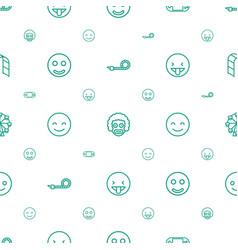 joy icons pattern seamless white background vector image