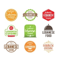Lebanese cuisine label vector