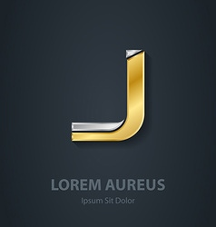 Letter j template for company logo 3d design vector