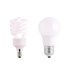 light bulb realistic set bulbs llustration vector image