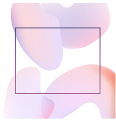 Light gradient banner with trendy beautiful pastel vector