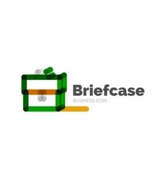 Line minimal design logo briefcase vector image