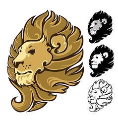 Lion Head Mascot Emblem vector image