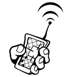 Location remote gadget drawing vector