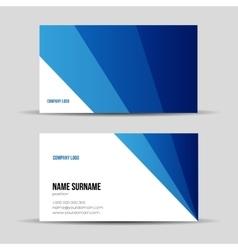 Modern blue business card template vector image