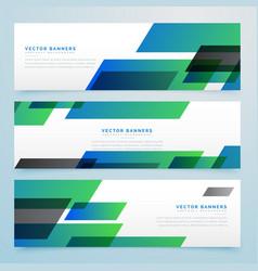 Modern geometric banners and headers set vector