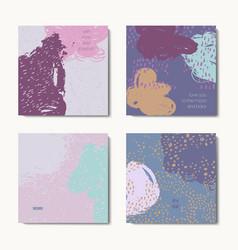 modern grunge brush postcards colorful vector image