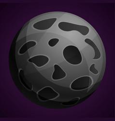 moon planet icon cartoon style vector image