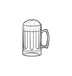 mug of beer hand drawn sketch icon vector image